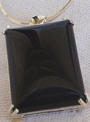Onyx silver pendant-B
