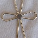 Flower sahpe silver Cross-1