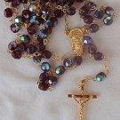 Purple crystal beads Rosary