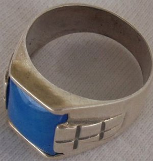 A light blue man ring