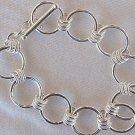 Rounds silver bracelet