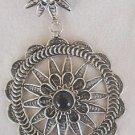 Onyx classic open silver pendant