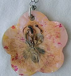 Hand- made mother of pearl pendant