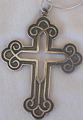 Big Celtic  Cross+silver chain