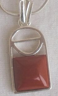 Mini blood stone  window pendant