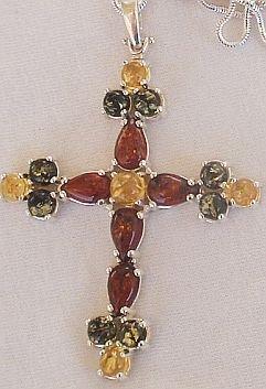 Amber Cross-2.2inch