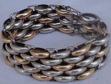 Gold and silver vintage bracelet