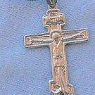 Catholic silver cross-DI