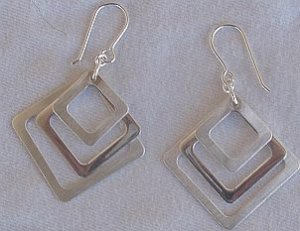 Trendy Triple windows earrings