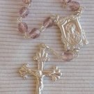 Purple glass beads mini Rosary