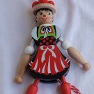 Jumping baker doll