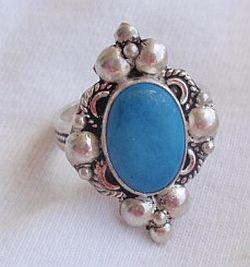 Blue-turqouise ring
