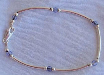 Purple blue silver bracelet