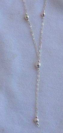 Delicate silver necklace