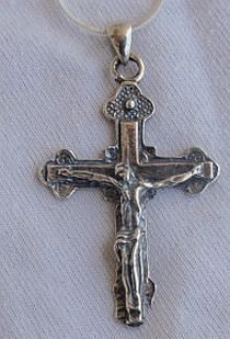 Catholic silver cross