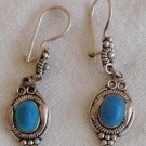 Dangaling aqua blue earrings