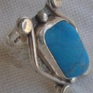 Turquoise silver ring MR 80