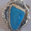 Turquise silver hand made ring MT19