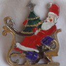 Santa Claus on a slide miniature