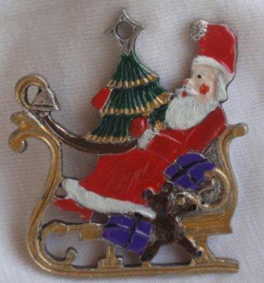 Santa Claus on a slide miniature