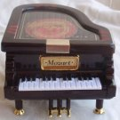 Playing piano wood miniature