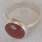 Red agate silver ring C
