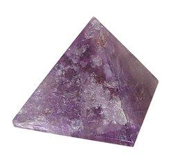 Amethyst Stone Pyramid- Solid - 25-30 mm