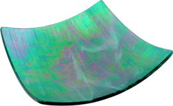 Emerald Candle/Cone Base - Glass - 5in. square - Metaphysical