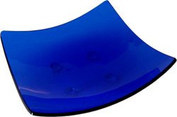 Cobalt Blue Candle/Cone Base - Glass -  5in. square - Metaphysical