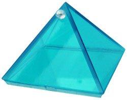 Aquamarine Glass Wishing Pyramid - 2 in. - Metaphysical