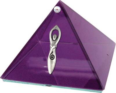 Goddess Glass Pyramid - Violet - 4 inch - Metaphysical