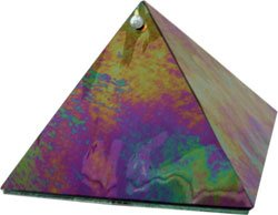 Black Diamond Protection Glass Pyramid - 6 inch - Metaphysical