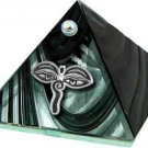 Black Eyes of Buddha Glass Wishing Pyramid - 2 inch - metaphysical