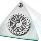 White Feng Shui Glass Wishing Pyramid - 2 inch - metaphysical