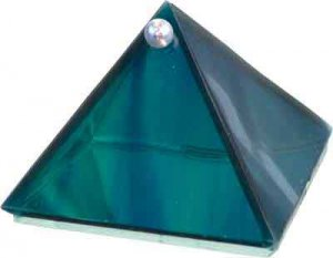 Ocean Glass Pyramid -  2 inches Metaphysical