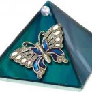 Ocean Butterfly Glass Wishing Pyramid - 2 inch - metaphysical