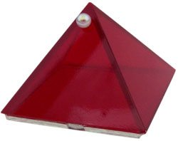 Ruby Red Glass Wishing Pyramid - 2 inch - metaphysical