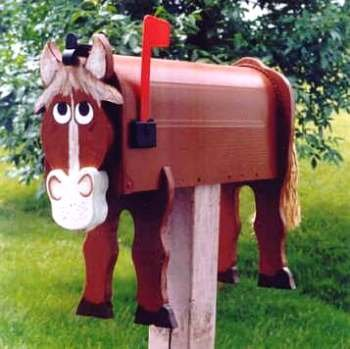 MAILBOXES - Horse mailbox