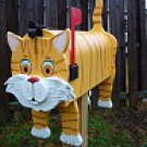 Mailboxes - Yellow cat mailbox