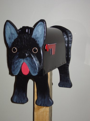 French Bulldog mailbox