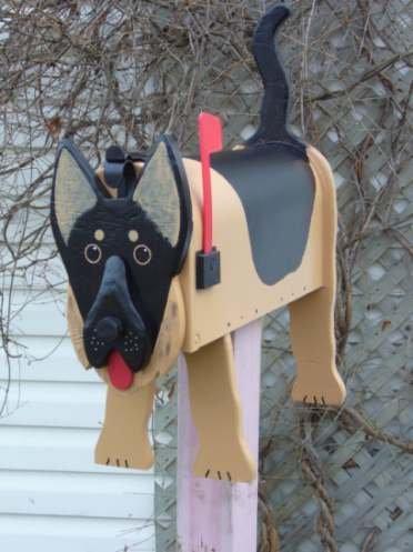 German Shepherd  mailbox