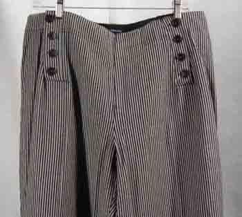 NEW Larry Levine Cotton Pants Black Cream Plus Size 18W