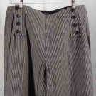 NEW Larry Levine Cotton Pants Black Cream Plus Size 18W
