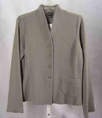 $318 Eileen Fisher Wool Viscose Nylon Jacket Stone Size S