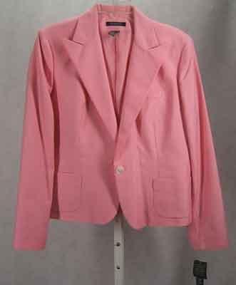 Ralph Lauren Pink Cotton Silk Blazer/Jacket Size 16