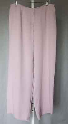 Eileen Fisher Stretch Silk Georgette Pants Crocus XL