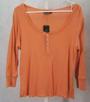 Ralph Lauren Pullover Orange Cotton Top Size L