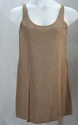 Eileen Fisher Walnut Viscose Jersey Longer Length Tank Top Size S