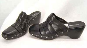 New Urostep Black Mules Shoes Size 12M
