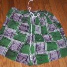 Green Batik African Shorts